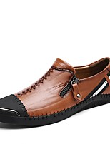 Men's Oxfords Moccasin Driving Shoes Comfort Light Soles Real Leather PU Cowhide Leather Fall Winter Casual Office & Career Flat Heel