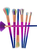 New Colorful Makeup Brushes 7 Pcs Rose Red Professional Synthetic Fiber Powder Eyeshadow Makeup Brush kits