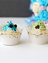 50pcs/lot Marine style laser Cut Cupcake Wrappers Liner Baking Cup Paper For Wedding Birthday Baby Shower Decoration