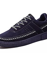 Men's Sneakers Light Soles Spring Fall PU Casual Lace-up Flat Heel Black Gray Blue Flat