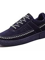 Da uomo Sneakers Suole leggere PU (Poliuretano) Primavera Autunno Casual Lacci Piatto Nero Grigio Blu Piatto