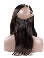 360 Spitze frontaler Verschluss gerade remy Haar natürlicher Haarstrich mit Babyhaar 100% peruanischen reinen Menschenhaar