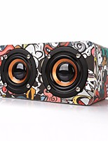 M5 Mini Style Bluetooth Bluetooth 4.0 3.5mm AUX Bookshelf Speaker Camouflage Color Black