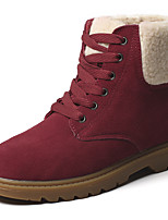 Women's Shoes Suede Spring Fall Winter Cowboy / Western Boots Snow Boots Boots Flat Heel Booties/Ankle Boots Lace-up For Casual Office &