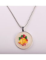Women's Pendant Necklaces Circle Alloy Chrismas Jewelry For Gift Christmas