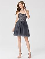 Trapèze Princesse Coeur Courte / Mini Dentelle Tulle Soirée Cocktail Robe avec Détail Cristal par TS Couture®