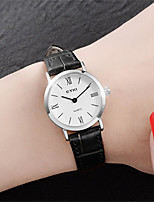 Women's Fashion Watch Quartz Water Resistant / Water Proof Leather Band Black Brown