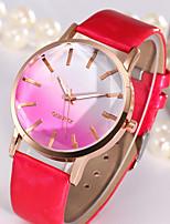 Damen Modeuhr Armbanduhr Quartz Leder Band Bequem Schwarz Weiß Blau Rot Braun Rosa Rose