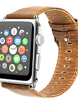 cheap -For Apple Watch Series 3 2 1 Genuine Leather Watch Band Strap  42mm 38mm