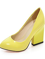 Women's Shoes PU Spring Fall Comfort Novelty Heels Chunky Heel Pointed Toe For Wedding Party & Evening Red Yellow Beige Black White