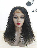 Women Human Hair Lace Wig Glueless Lace Front 180% 150% 130% Density With Baby Hair Curly Wigs Brazilian Hair Medium Brown Dark Brown