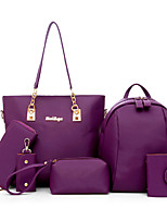 Women Bags All Seasons Polyester Bag Set Rivet for Outdoor Office & Career Blue White Black Purple Fuchsia