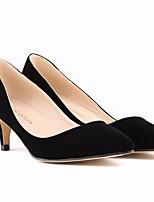 Femme Chaussures Polyuréthane Eté Escarpin Basique Chaussures à Talons Kitten Heel Bout pointu Pour Décontracté Blanc Noir Fuchsia