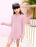 Girl's Birthday Casual/Daily Going out Solid Dress,Cotton Rayon Spring Fall Long Sleeve