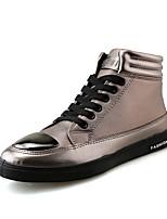 Da uomo Scarpe PU (Poliuretano) Primavera Autunno Comoda Sneakers Lacci Per Casual Oro Nero Rosso