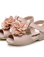 Fille Chaussures Similicuir Eté Confort Premières Chaussures Chaussures de Demoiselle d'Honneur Fille Sandales Fleur Pour Mariage Habillé