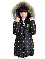 Girls' Polka Dots Down & Cotton Padded,Cotton Polyester Winter Long Sleeve