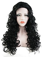 Women Synthetic Wig Capless Long Curly Black Party Wig Halloween Wig Cosplay Wig Natural Wigs Costume Wig