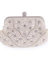 Donna Sacchetti Per tutte le stagioni Poliestere Borsa da sera Con applique Dettagli con cristalli Dettagli con perline per Matrimonio