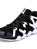 Men's Shoes PU Fall Winter Light Soles Athletic Shoes Running Shoes For Athletic Outdoor Black/White Black/Gold Black