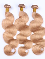 Human Hair Malaysian Precolored Hair Weaves Body Wave Hair Extensions 3 Pieces Strawberry Blonde