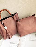 Damen Taschen Ganzjährig PU Bag Set 2 Stück Geldbörse Set Reißverschluss für Normal Schwarz Rote Rosa Dunkelgrün Braun