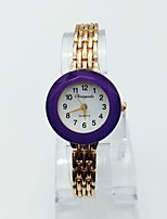 Women's Wrist watch Bracelet Watch Casual Watch Quartz Alloy Band Sparkle Casual Red Pink Purple