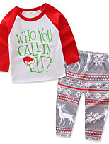Girls' Floral Color Block Sets,Cotton Spring All Seasons Clothing Set