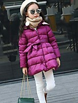 Girls' Solid Down & Cotton Padded,Polyester Nylon Winter Long Sleeve