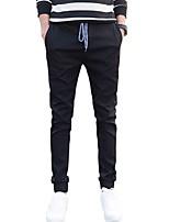Men's Mid Rise Micro-elastic Skinny Jeans PantsSimple Slim Solid WL-8171