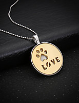 Women's Pendant Necklaces Circle Cat Alloy Love Jewelry For Wedding Party Birthday Graduation Gift Daily