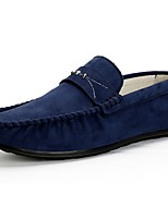 Men's Shoes Suede Spring Fall Moccasin Loafers & Slip-Ons For Casual Blue Brown Gray Black