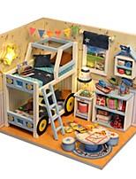 DIY KIT Music Box Toys House Architecture Resin Romantic Pieces Unisex Birthday Gift