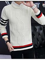 Standard Pullover Da uomo-Per uscire Monocolore Rotonda Manica lunga Altro Primavera Inverno Medio spessore Media elasticità