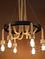 Chandeliers Hemp Industry Wind Restoring Ancient Ways Loft Creative Personality Clothing Store Net Cafe Restaurant Bar Droplight
