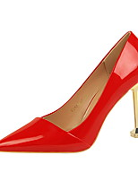 Women's Shoes Leatherette Spring Fall Comfort Heels Stiletto Heel Pointed Toe For Dress Nude Dark Brown Light Pink Red Silver