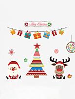 Noël Vacances Personnes Stickers muraux Autocollants avion Autocollants muraux décoratifs Matériel Décoration d'intérieur Calque Mural