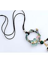 Per donna Collane con ciondolo Di forma geometrica Flanella Lega Di tendenza Stile semplice Gioielli Per Quotidiano