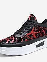 Для мужчин обувь Материал на заказ клиента Весна Осень Удобная обувь Кеды Сапоги до середины икры Цветы Назначение Повседневные Для