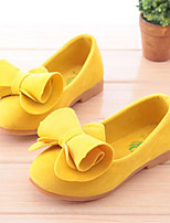 Girls' Shoes Fleece Summer Fall Moccasin Comfort Flower Girl Shoes Loafers & Slip-Ons Bowknot For Casual Party & Evening Blushing Pink