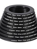andoer 18stk 37-49-52-55-58-62-67-72-77-82mm trin op / trin ned linsen filter metal adapter ring kit