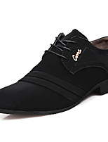 Men's Shoes Nubuck leather Spring Summer Fall Winter Formal Shoes Oxfords Rivet For Casual Outdoor Office & Career Black