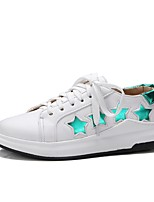 Women's Sneakers Driving Shoes Comfort Spring Fall Leatherette Casual Outdoor Flat Heel Champagne White 1in-1 3/4in