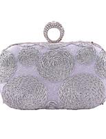 Damen Taschen Ganzjährig Polyester Abendtasche Applikationen für Hochzeit Veranstaltung / Fest Schwarz Silber