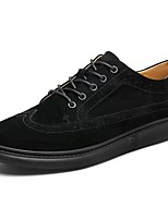 Men's Shoes Pigskin Spring Fall Comfort Oxfords Lace-up For Casual Gray Black