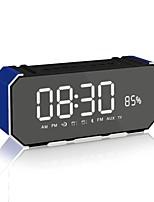 DG100 Stile Mini Bluetooth Visualizzazione del tempo Bluetooth 4.0 AUX 3.5mm USB Casse acustiche da supporto o da scaffale Oro Nero Rosa
