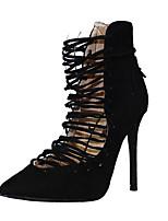 Women's Sandals Summer Heels / Sandals / Pointed Toe Fabric Party & Evening / Dress / Casual Stiletto Heel Zipper /