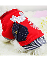 Dog Sweatshirt Dog Clothes Casual/Daily Letter & Number Red Gray