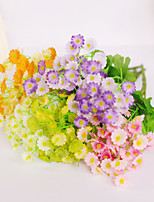 1 Branch Plastic Daisies Tabletop Flower Artificial Flowers