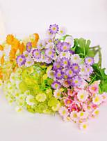 1 Ramo Plástico Margaridas Flor de Mesa Flores artificiais